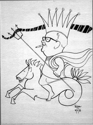 Professor Auchmuty as King Neptune