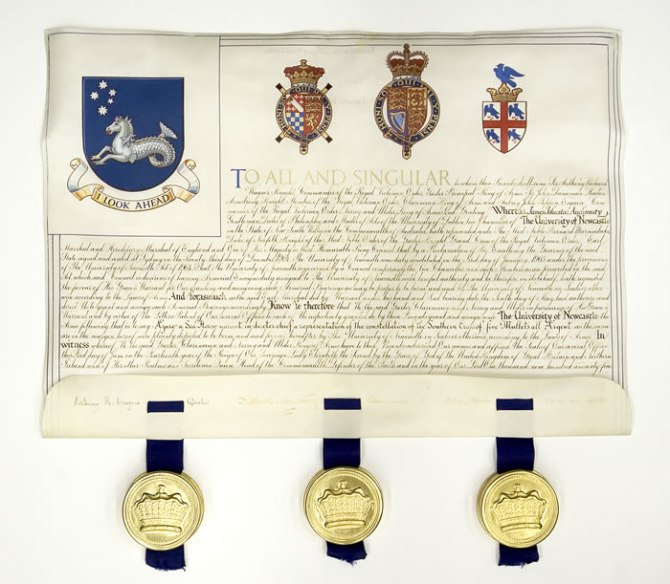 University Of Newcastle Grant of Arms