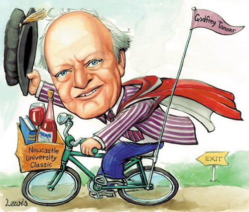 Lewis Cartoon of Godfrey in the Newcastle Herald