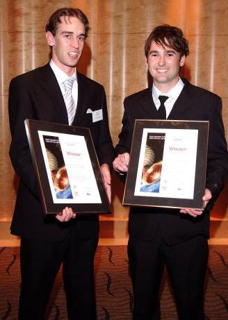 John Wilson and Alex Widgery with the Awards
