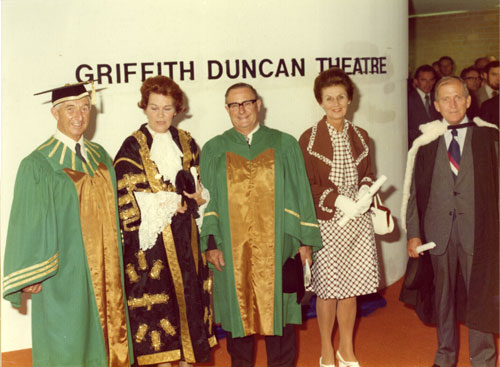 Mr Griffith Duncan at the Conferring of Honorary Award and Official Farewell 26th March 1975