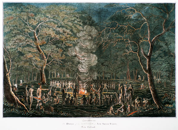 Corrobborree, or Dance of the Natives of New Sout Wales, New Holland by W. Preston (1820)