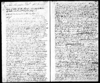 Sample page from Reverend Lancelot Edward Threlkeld's Journal, December 1828 - 1846. entitled A Journal Kept By Lancelot Edward Threlkeld.