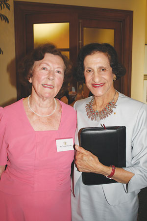 Mrs Vera Deacon and Her Excellency Professor Marie Bashir AC CVO Governor of New South Wales