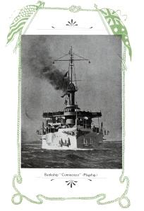 The flagship, battleship Connecticut