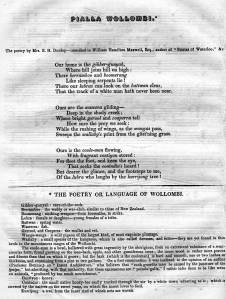 Pialla Wollombi from Issac Nathan's 1848 work