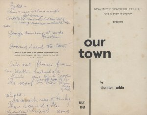 Our Town by Thornton Wilder [Signed Booklet] July 1961