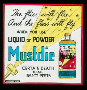 Mustdie Pest Control Advertisement