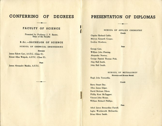 Conferring of Degrees - 16th May 1953