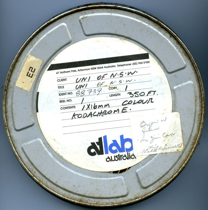 Canister containing 16mm Colour Film of Procession to Newcastle Town Hall