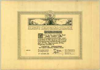 James Carr Sydney Technical College Diploma 30th December 1950