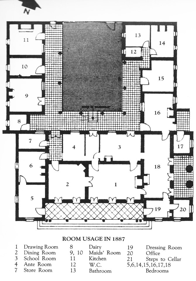 Dalwood House Floor Plan (Courtesy of Don Seton Wilkinson)
