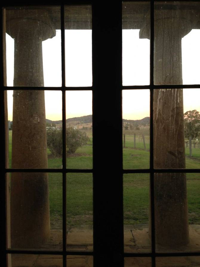 Doric columns from the inside