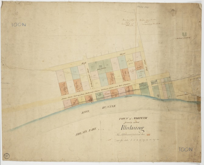 Town of Morpeth formerly called Illulaung, 1834 (Courtesy of the State Library of NSW)