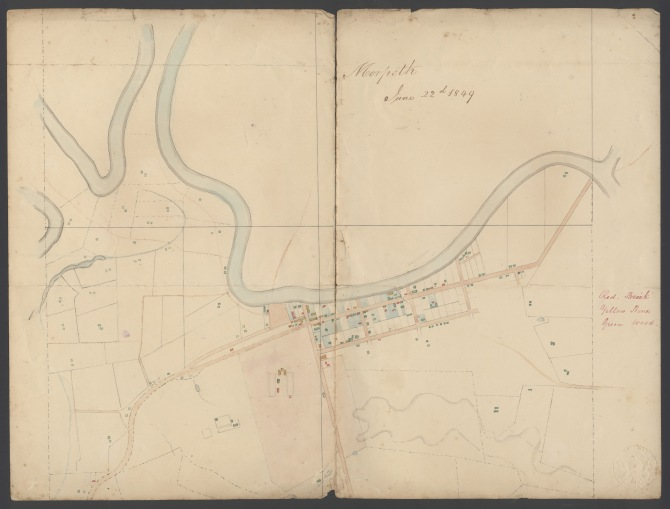 Morpeth, June 22nd 1849. (Elkin Papers, A6022(iv) University of Newcastle's Cultural Collections)