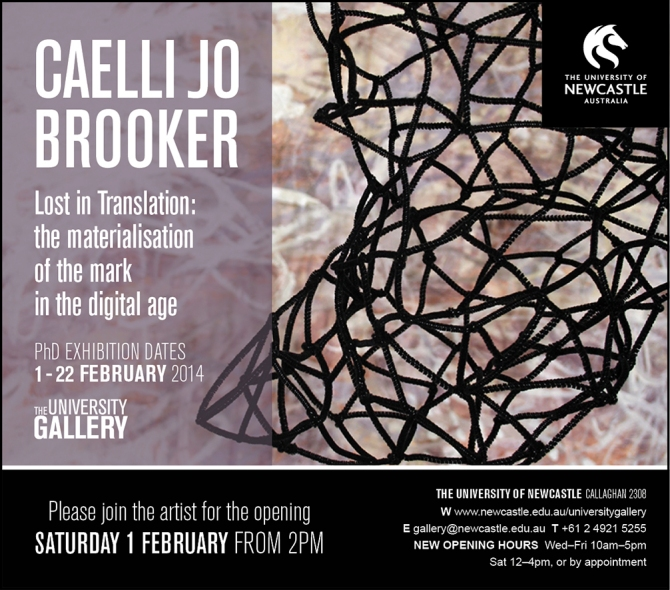 Caelli Jo Brooker Exhibition