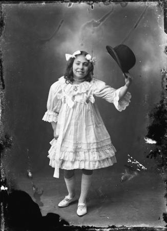 Miss Jones, with hat