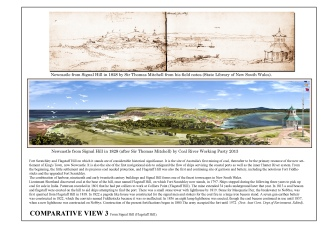 Sir Thomas Mitchell's 1828 sketch rendered by Charles Martin 2013. Sir Thomas Mitchell's 1828 sketch rendered by Charles Martin 2013.