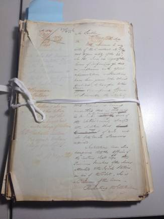 NRS 905, Letter No 32-4776 [4-2146] - Cover page of return (Image Courtesy of Fiona Sullivan, NSW State Records)