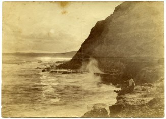 Unidentified man on Newcastle coastline circa 1880s (Photograph by George Freeman)