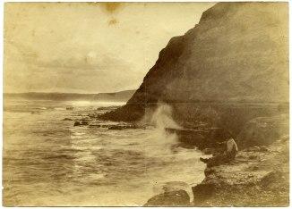 Unidentified man on Newcastle coastline circa 1880s (Photograph by George Freeman)