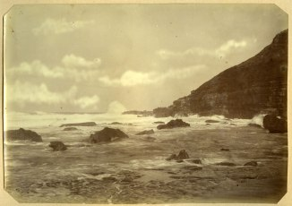 Newcastle coastline circa 1880s (Photograph by George Freeman)