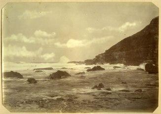 Newcastle coastline circa 1880s (Photograph by George Freeman)