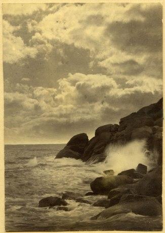 Closeup of Newcastle coastline (Photograph by George Freeman)