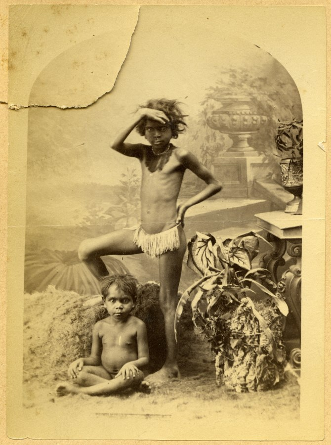 Unidentified Aboriginal Children (Photograph by George Freeman)