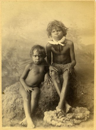Two unidentified Aboriginal Children (Photograph by George Freeman)