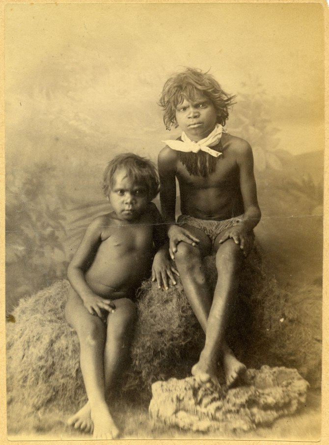 Two unidentified Aboriginal Children (Photograph by George Freeman)