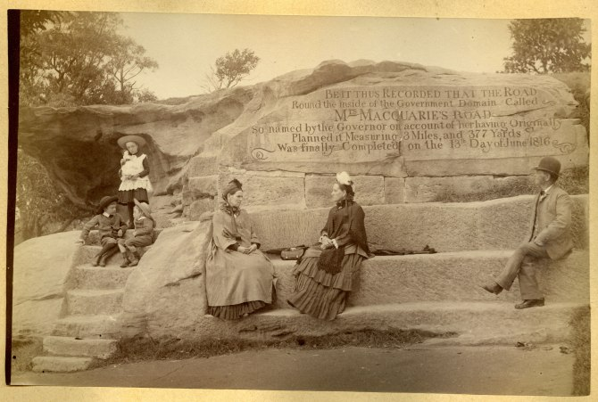 Mrs Macquarie's Chair, Sydney circa 1880s (Photograph by George Freeman)
