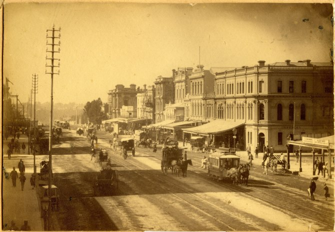 Street scene of King William Street Adelaide late 1870s. (Photograph by George Freeman)