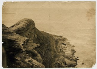 Cliff overlooking Bogey Hole, circa 1880s. (Photograph by George Freeman)