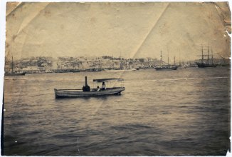 Newcastle Harbour taken from Stockton, circa 1880s (Photograph by George Freeman)