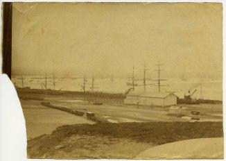 Newcastle wharves circa 1880s (Photograph by George Freeman)