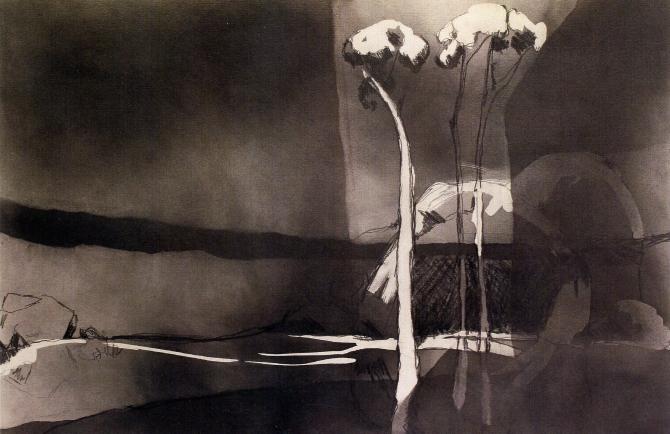 Nicole Chaffey: Three Tree Creek 2013. Graphite on paper