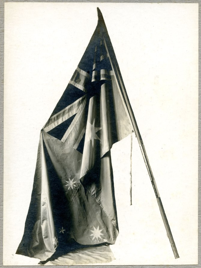 The Birdwood Flag in its original condition. [Courtesy of The University of Newcastle's Anglican Diocese Archives in Cultural Collections A6137(iv)]