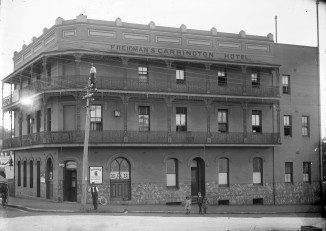 Freidman's Carrington Hotel (Thomas James Rodoni Original Glass Negative, digitised by Chris Fussell)