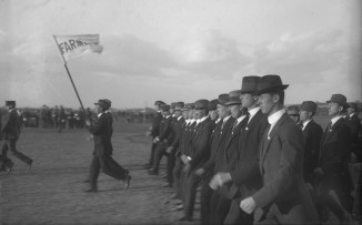 Military Parade - Farmers (Thomas James Rodoni Original Glass Negative, digitised by Chris Fussell)