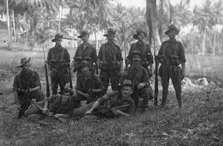 Company of Soldiers (Thomas James Rodoni Original Glass Negative, digitised by Chris Fussell)