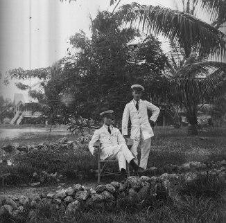 Officers in White (Thomas James Rodoni Original Glass Negative, digitised by Chris Fussell)
