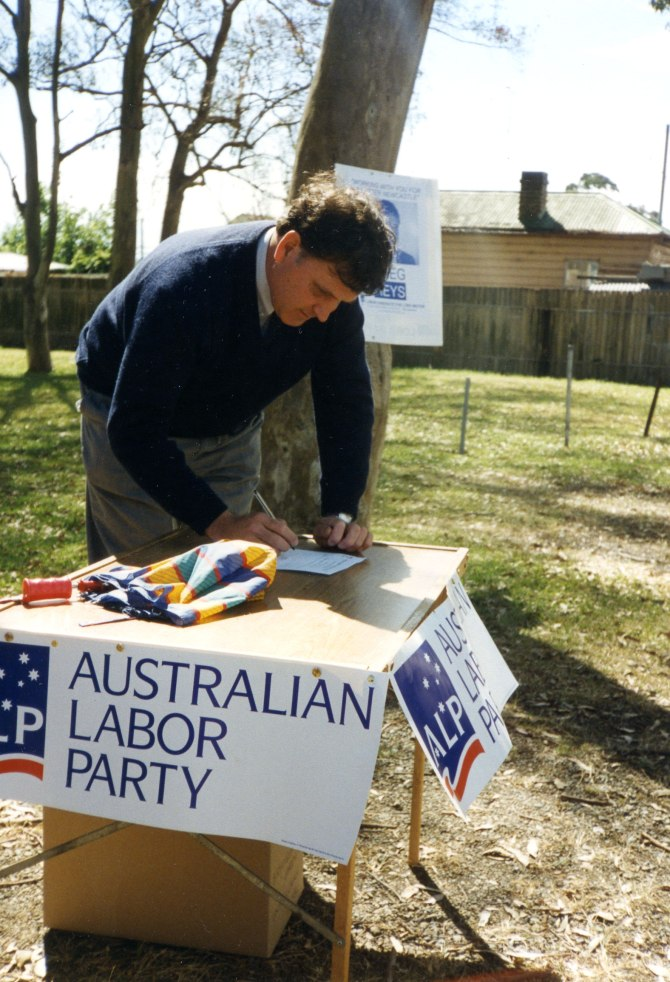 Greg Heys standing for Newcastle as  Australian Labor Party candidate (Photo: Courtesy of Wendy Heys)