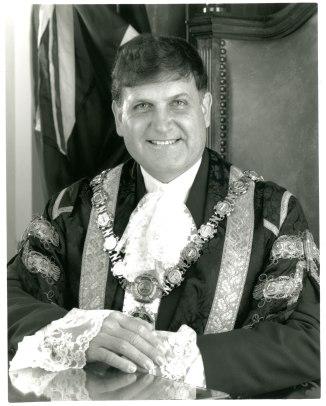 Greg Heys as Lord Mayor of Newcastle circa 1995 (Photo: Courtesy of Wendy Heys)