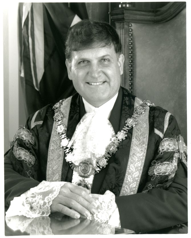 Greg Heys as Lord Mayor of Newcastle circa 1995 (Photo: Courtesy of Wendy Heys)