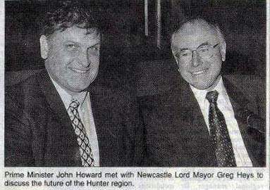 Greg with Prime Minister John Howard, circa 1998.