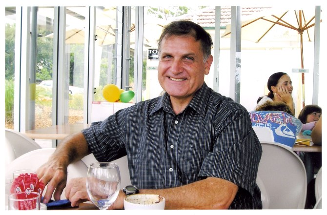 Greg photographed at his 60th birthday in 2005. (Photo: Courtesy of Wendy Heys)