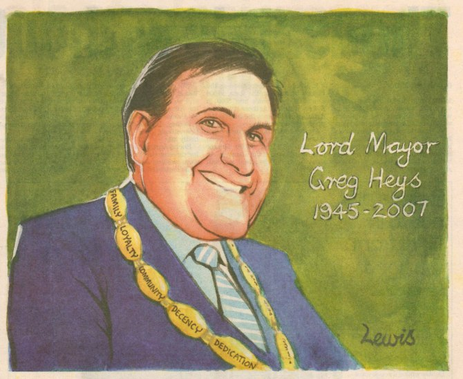 Peter Lewis Cartoon published Newcastle Herald 11th June 2007 (With permission of Peter Lewis)