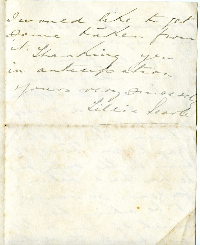 Letter to Rodoni from the close friend of a deceased soldier, Gilfillan, requesting a copy of a photograph of him (3rd September 1915)