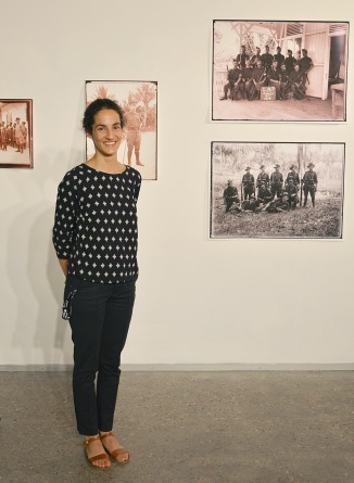 Naomi Stewart, one of the curators at the Exhibition launch 27 March 2015 (Photo: Chris Fussell)